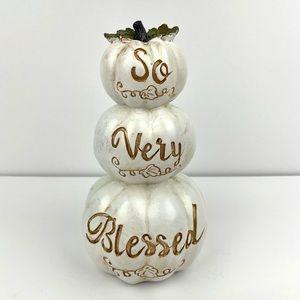Fall/ Thanksgiving Stacked Pumpkin Decor -NEW